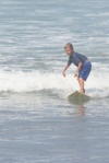 Hunter surfing