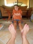 Kaitlyn's feet have outgrown mine
